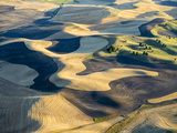 Aerial Photography at Harvest Time in the Palouse Region of Eastern Washington
