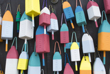 Bar Harbor  Maine  Colorful Buoys on Wall for Sale and State Specialty Souvenirs for Lobster Traps