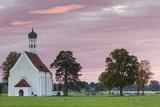 Germany  Bavaria  Hohenschwangau  St Coloman Church  Dawn