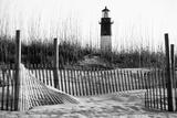 USA  Georgia  Tybee Island  Fences and Lighthouse