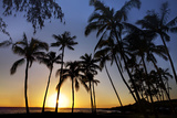 USA  Kauai  Sunset on the Westside of Maui