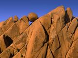USA  California  Joshua Tree National Park  Distinctive Monzonite Granite Boulders at Sunset