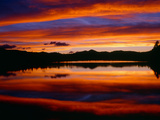 USA  Colorado  Sunset Ignites the Sky over Echo Lake  Arapaho National Forest