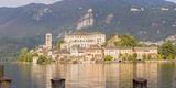 Panorama Isola San Giulio San Giulio Island Lake Orta Piedmont  Italy
