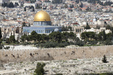 Moslem Golden Dome of the Rock  Outside Walls  and Historic Jewish Cemetery  City of JerUSAlem