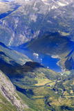 Unesco World Heritage Site Twisting Mountain Road Geiranger Norway