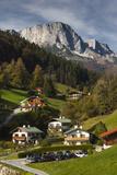 Germany  Bavaria  Maria Gern Village  Elevated View  Fall