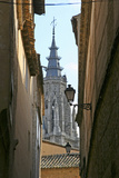 Spain  Toledo Cathedral Steeple and Streetlight