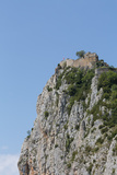 Roquefixade Carthar Castle on Top of a Rugged Rock  Languedoc-Roussillon  France  Europe