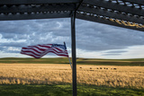 Whitman County  Lacrosse  Pioneer Stock Farm  View from Fran Jones Home of Flag and Pasture