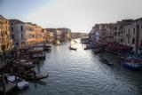 View of Grand Canal  Gondolas and Boats from Rialto Bridge  Venice  Italy