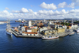 Stavanger Harbour  Norway's Third Largest City and Centre of the Country's Oil Industry  Norway