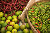 Chillies in Market in Pulua Weh  Sumatra  Indonesia  Southeast Asia