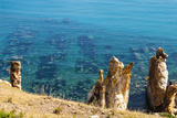 Ruins Underwater of Roman Houses  Les Aiguilles  Tabarka  Tunisia  North Africa
