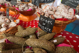 Traditional Sausages for Sale in an Open Air Market in the Historic Town of Cassis  France