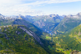 View of Geiranger and Geirangerfjord  from the Summit of Mount Dalsnibba  1497M  Norway