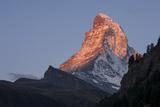 Matterhorn  First Light  Zermatt  Swiss Alps  Switzerland  Europe