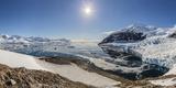 Panoramic View with Sunburst of Neko Harbor  Antarctica  Polar Regions