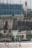 The New Mucem Gallery in Marseille with the Cathedral Reflected in the Glass  Provence  France