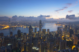 View of Hong Kong Island Skyline at Dawn  Hong Kong  China  Asia