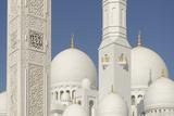 The Sheikh Zayed Grand Mosque  Abu Dhabi  United Arab Emirates  Middle East