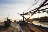 Fishing Boats at Sunset  Thailand