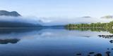 Morning Mist  Lake Ullswater  Lake District National Park  Cumbria  England  United Kingdom  Europe