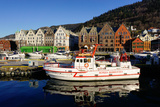 View on the Harbour Bergen  Hordaland  Norway  Scandinavia  Europe