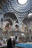 Teashop in a Khan  Bazar  Kashan  Iran  Western Asia