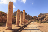 Colonnaded Street  City of Petra Ruins  Petra  UNESCO World Heritage Site  Jordan  Middle East