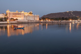 City Palace in Udaipur at Night  Reflected in Lake Pichola  Udaipur  Rajasthan  India  Asia