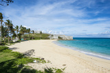 Fort St Catherine and the White Sand Beach  the Historic Town of St George  Bermuda  North America