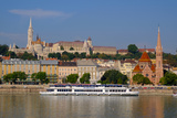 The Capuchin Church and in Foreground Matthias Church and Fishermen's Bastion  Hungary
