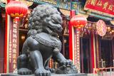 Lion Statue at Wong Tai Sin Temple  Wong Tai Sin  Kowloon  Hong Kong  China  Asia