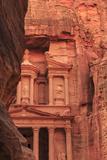 The Treasury (Al-Khazneh)  Seen from the Siq  Petra  Jordan  Middle East