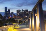 Skyline from William Barak Bridge at Dusk  Melbourne  Victoria  Australia  Pacific
