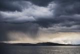 Dramatic Storm Clouds over Lake Titicaca  Peru  South America