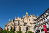 The Imposing Gothic Cathedral of Segovia from Plaza Mayor  Segovia  Castilla Y Leon  Spain  Europe