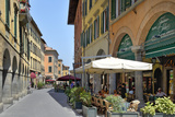 Alfresco Restaurants and Porticos (Covered Walkways)  Borgo Stretto  Pisa  Tuscany  Italy  Europe