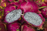 Pitaya Fruits for Sale at the Market of Cacao  French Guiana  Department of France  South America