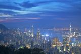 View of Hong Kong from Jardine's Lookout at Sunset  Hong Kong  China  Asia