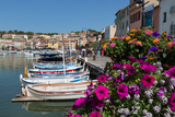 Traditional Fishing Boats Moored in the Harbour of the Historic Town of Cassis  Mediterranean