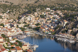 View over the Colourful Harbour  Dodecanese Islands
