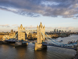 View from City Hall Rooftop over London Skyline  London  England  United Kingdom  Europe