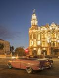 Old American Car  Havana  Cuba  West Indies  Caribbean  Central America