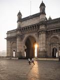Sunrise Behind the Gateway to India  Mumbai (Bombay)  India  South Asia