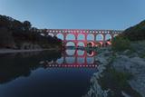 Pont Du Gard  Roman Aqueduct  River Gard  Languedoc-Roussillon  Southern France  France