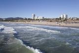 Waves at Santa Monica State Beach  Santa Monica  California  United States of America