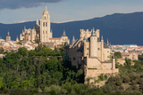 The Imposing Gothic Cathedral and the Alcazar of Segovia  Castilla Y Leon  Spain  Europe