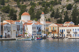 Waterfront Houses and Church  Dodecanese Islands